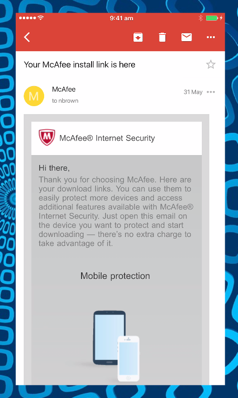 McAfee Review: iPhone examine the features walkthrough - Adware
